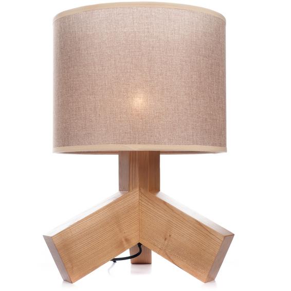 Hilda bordlampe i Ask, Lys Brun lampeskjerm