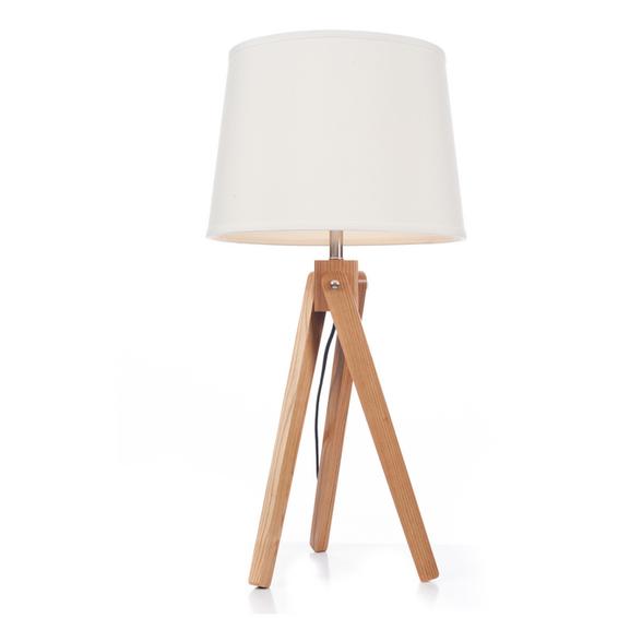Svanhild bordlampe i Ask, Hvit lampeskjerm