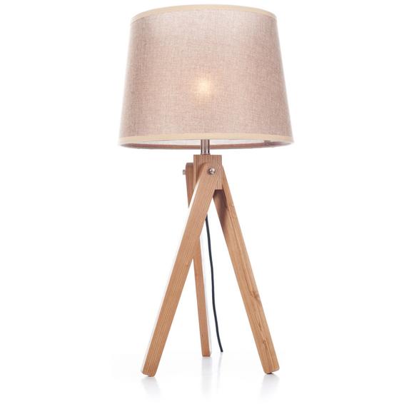 Svanhild bordlampe i Ask, Lys brun lampeskjerm