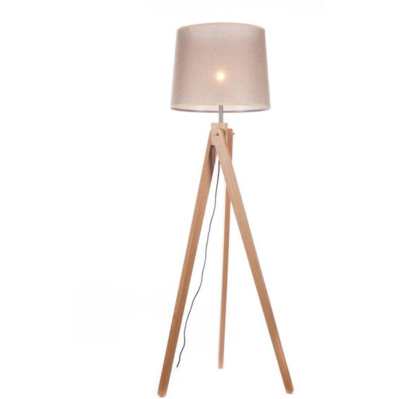 Svanhild Gulvlampe i Ask, Lys brun Lampeskjerm