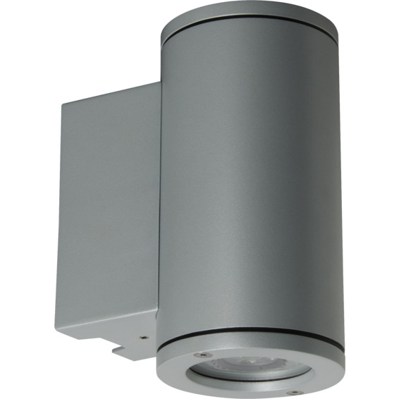 Unilamp Tube 5007 Wall Up/Down 6,5W LED GU10 IP65 Sølv
