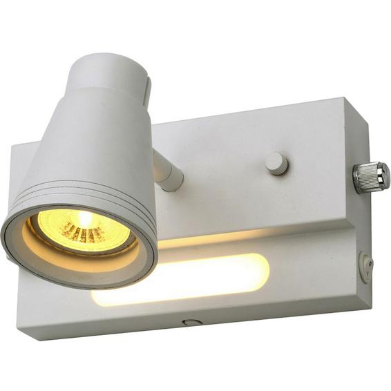 Proto enkel dimbar GU10 og LED nattlys Matt Hvit