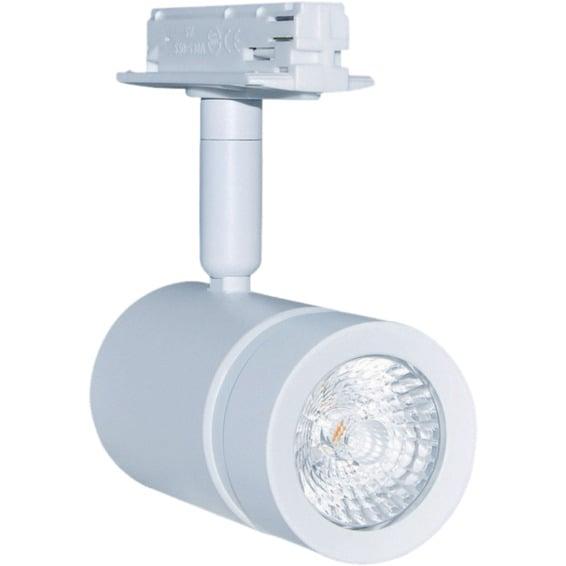 Alfa LED Skinnespot Hvit 8W Dim