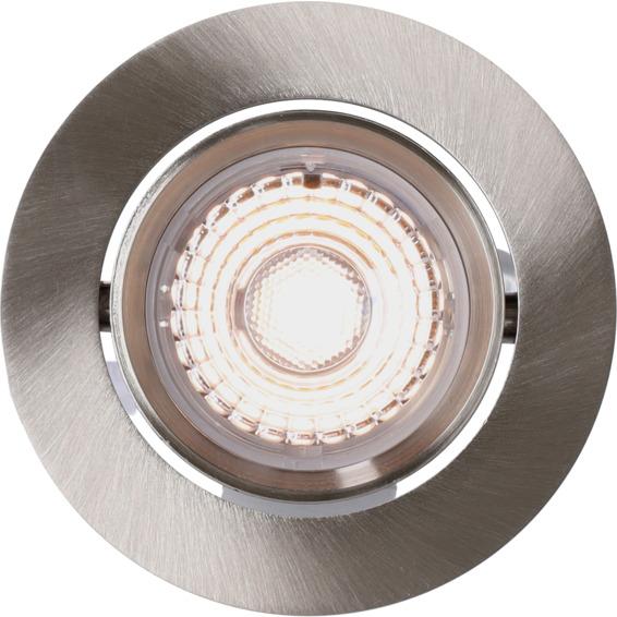 Alfa LED Downlight 10W Børstet stål IP44