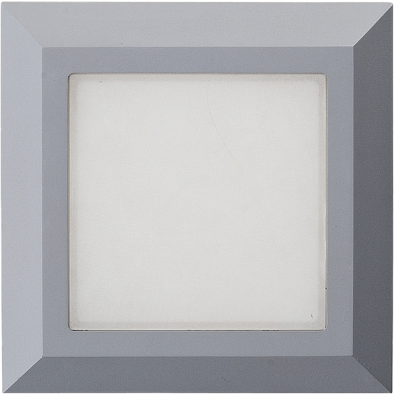Vegglys Square Sølv 4,5W LED IP44