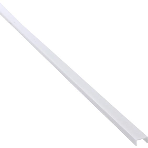 Nortronic BARdolino Avdekn Opalt Dekklokk til U-profil lav 2m 3205842 Lyslist og Striplight
