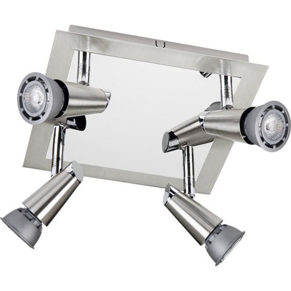 SG Armaturen CON GU10 LED 4x6,5W Børstet Stål 3210156 Spotlight/Lampe