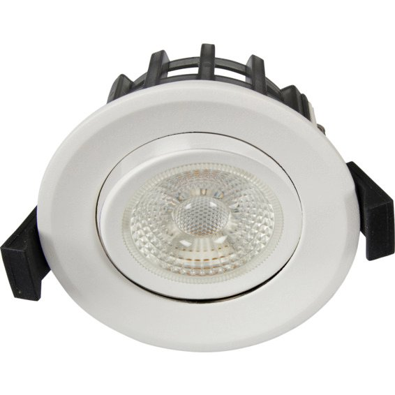 Unilamp JUNO GYRO COB+ Downlight 10W Matt Hvit 3225302 Downlight innendørs