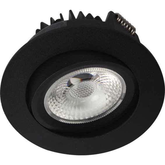 Unilamp Juno COB+ LED 10W Matt Sort 3225308 Downlight innendørs