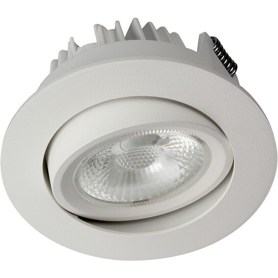 Unilamp Juno Cob+ 76 LED 8W Matt Hvit 3225326 Downlight innendørs