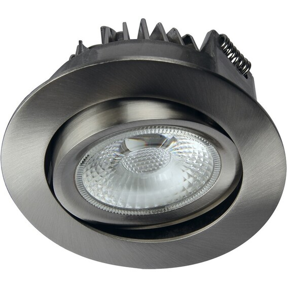 Unilamp Juno Cob+ 76 LED 8W Børstet Stål 3225327 Downlight innendørs