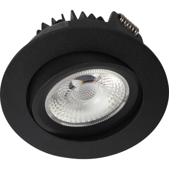 Unilamp Juno Cob+ 76 LED 8W Matt Sort 3225328 Downlight innendørs