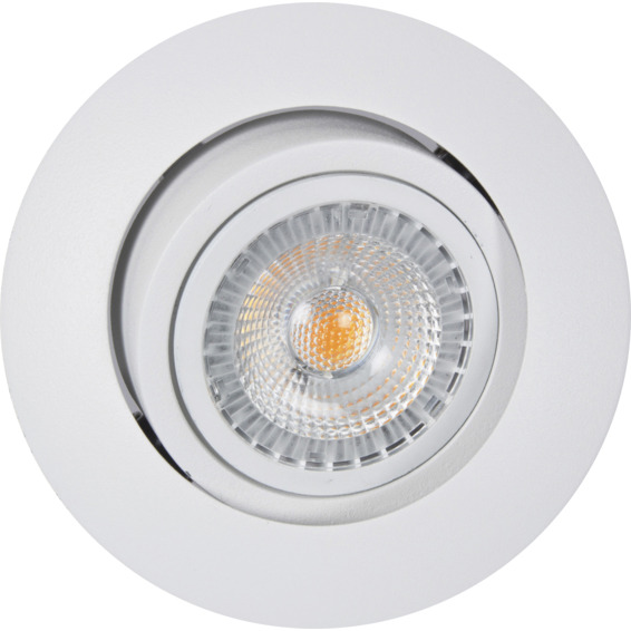 Unilamp Juno SAFE+ 6,5W LED Downlight Matt Hvit 3225340 Downlight innendørs