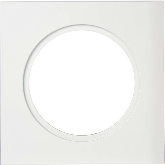 Unilamp Downlightramme Firkant 120x120mm Matt Hvit 3225360 Downlight tilbehør