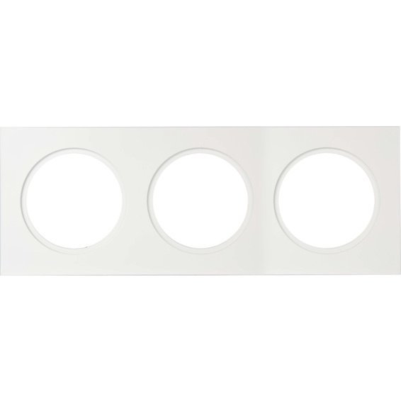 Unilamp Downlightramme Firkant 120x360mm Matt Hvit 3225362 Downlight tilbehør