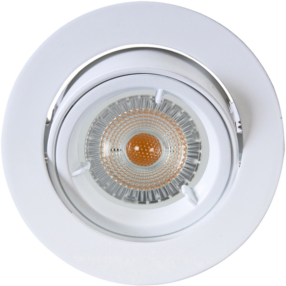 Namron Artos LED Downlight 240V 6,5W GU10 Matt Hvit IP23 3225424 Downlight innendørs