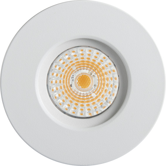Namron Altea Fast LED Downlight 8W Matt Hvit IP44 3225467 Downlight innendørs