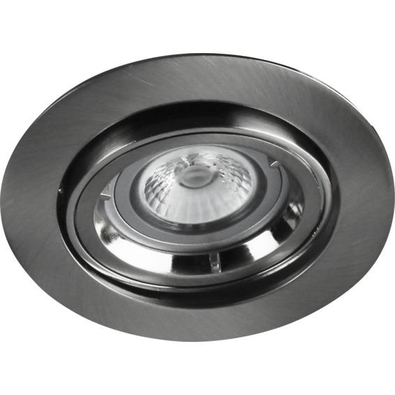 Namron Artos COB LED Downlight 5W GU10 230V Børstet Stål 3225484 Downlight innendørs