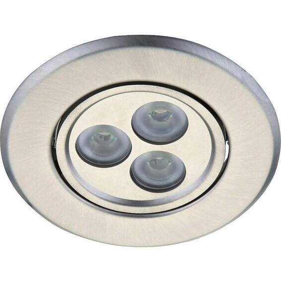 Downlight LED Focal 6W B.St�l Dimm. 30� DEFA