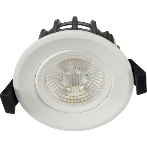 Juno GyroCOB+ 10W WarmDim Downlight Matt Hvit