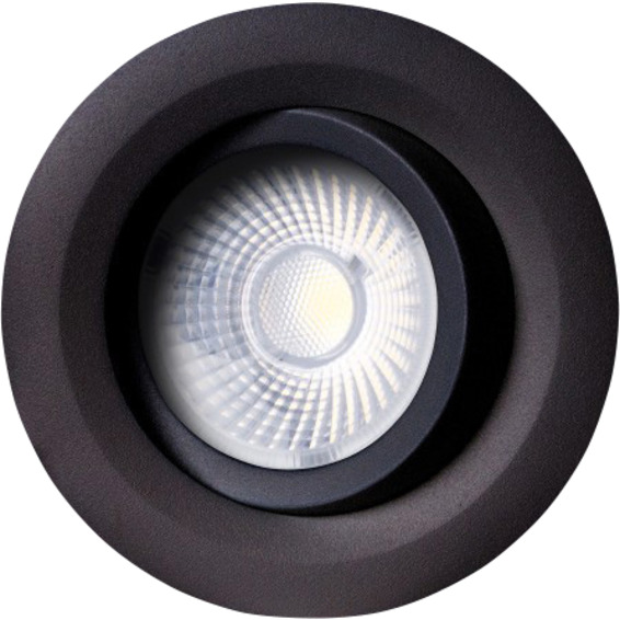 Unilamp Gyro 8W 2700K Matt Sort 3229432 Downlight innendørs