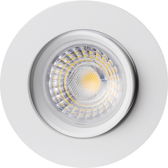 Namron Alfa 360-tilt LED 8W Matt Hvit IP44 3234648 Downlight innendørs