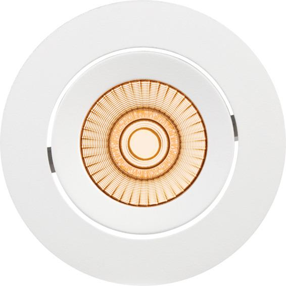 Alfa reflektor Downlight Warmdim 10W matt hvit