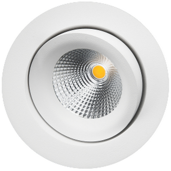 Junistar Gyro matt-hvit 8W LED 2700K