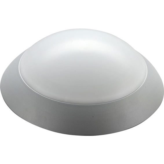 Takarmatur ECOLED Alu 12W sølv IP21 Kl.I
