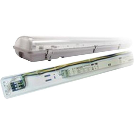 Lysarmatur Storm 2x28 watt IP65 T5 m/gjennomgangskobling