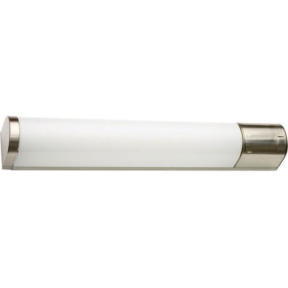 Baderomslampe Prelude 14W T5 St�l 68cm IP44 Stikkontakt SG