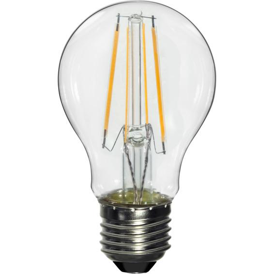 LED Pære Filament 6W E27 Klar