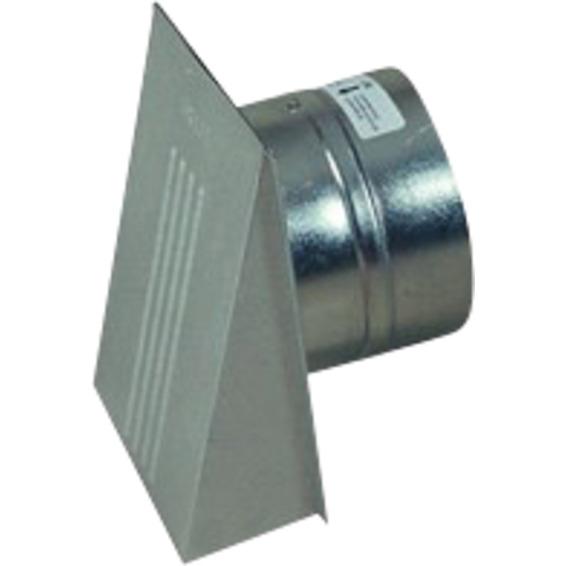 Ventilatorventil Med Kappe og Spjeld 6x6 �125