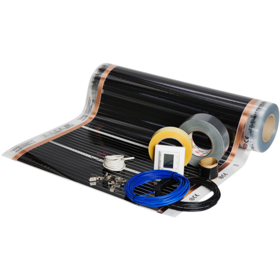 Foliekit Namron 8m² 60cm 60W/m 13,3m m/digital termostat