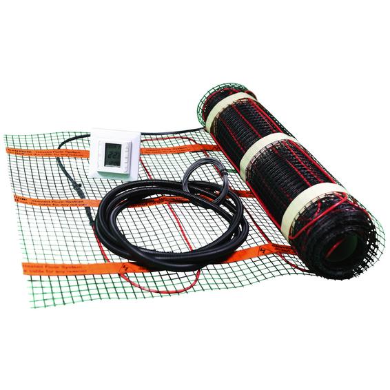 Varmekabelmatte Kit 100W/m2 1,1m2 m/termostat