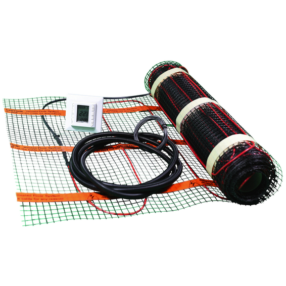 Varmekabelmatte Kit 140W/m² 1,0m² m/Termostat