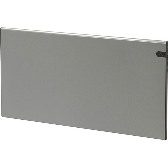 Varmeovn H30 1400W Panel S�lvgr� 105x37cm GLAMOX