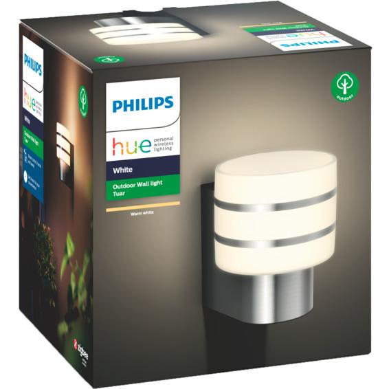 Philips Hue W Tuar Vegglampe 1x9.5W Sølv