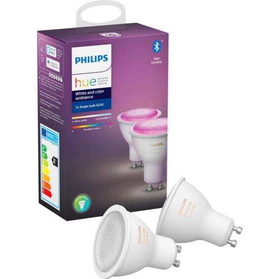 Philips Hue WCA GU10 Lyskilde 6W 2pk
