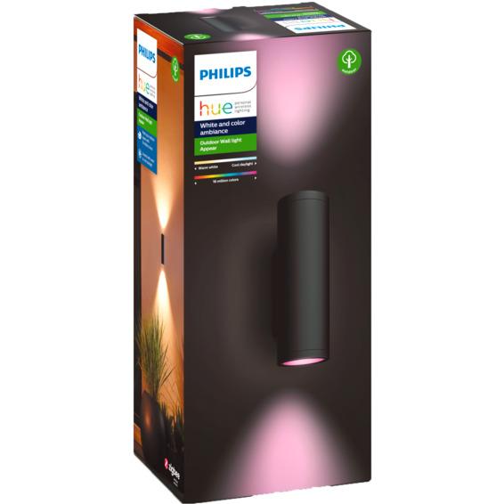 Philips Hue WCA Appear Vegglampe 2x8W Sort