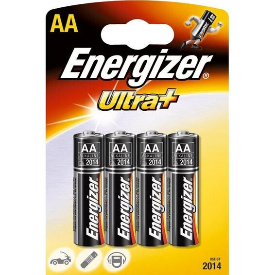 Batteri LR06 AA 1,5V Alkalisk 4 pakn. ENERGIZER