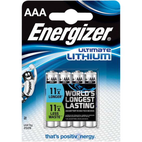 Batteri Ultimate Lithium AAA L92 4pk Energizer