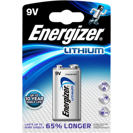 Batteri Ultimate Lithium 9v 1pk Energizer