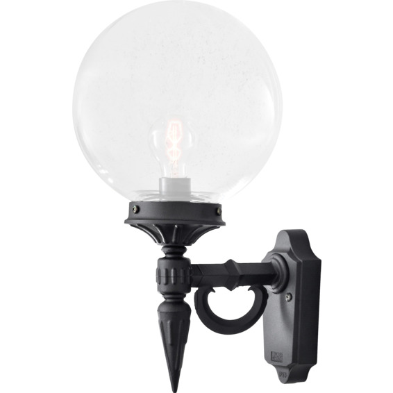 Orion vegglampe E27 svart IP23