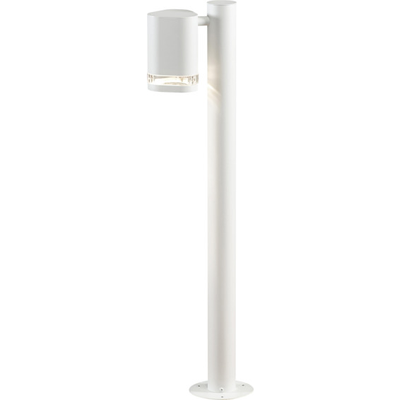 Modena lyktestolpe GU10 hvit inkl stolpe IP44