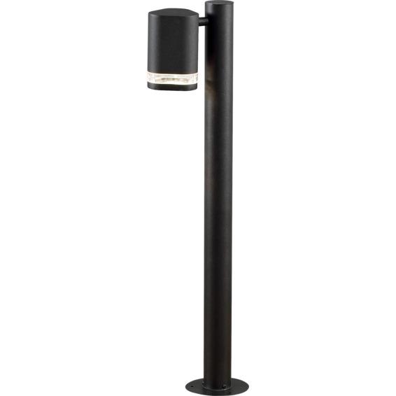 Modena lyktestolpe GU10 svart inkl stolpe IP44