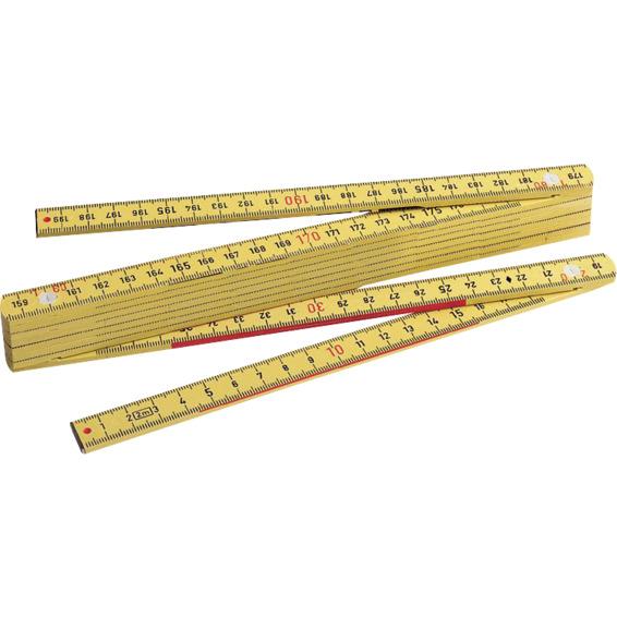 Meterstokk gul 2m