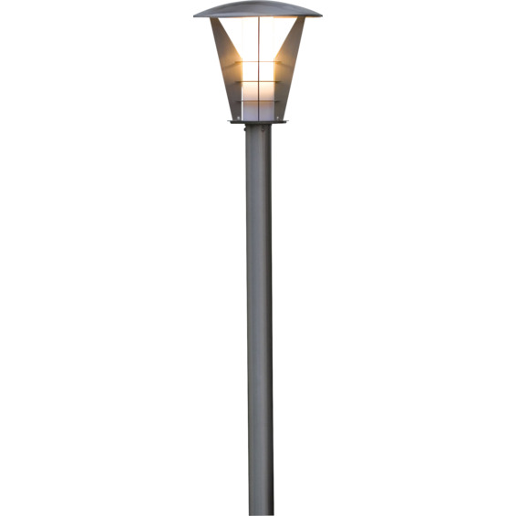 Utelampe Stolpe Livorno Stål 100cm 11w E27 IP44 Konstmide