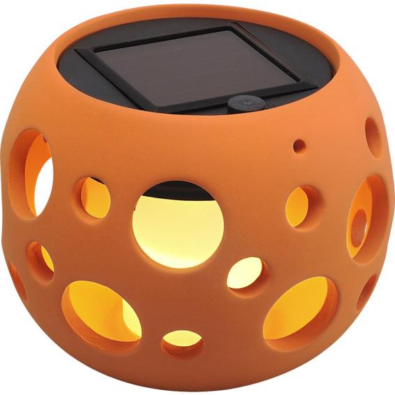 Hagelykt Genova Rund Solcelle LED Terrakotta 10cm