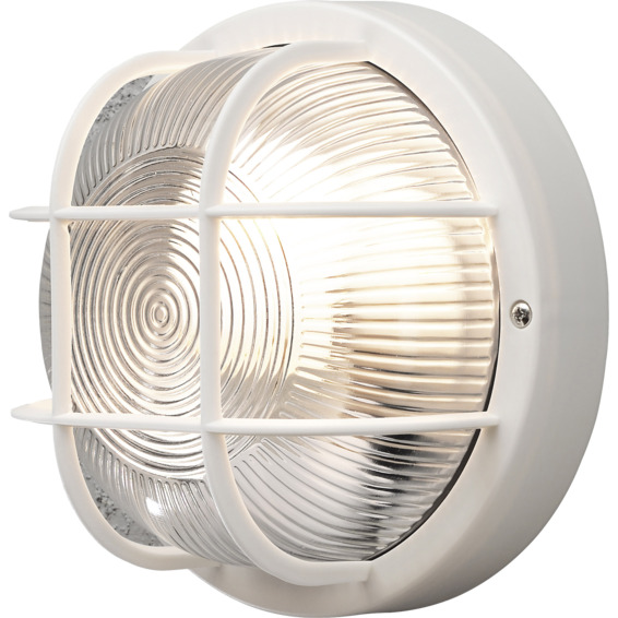 Vegglampe Mantova Hvit 40W E27 IP44 Konstmide
